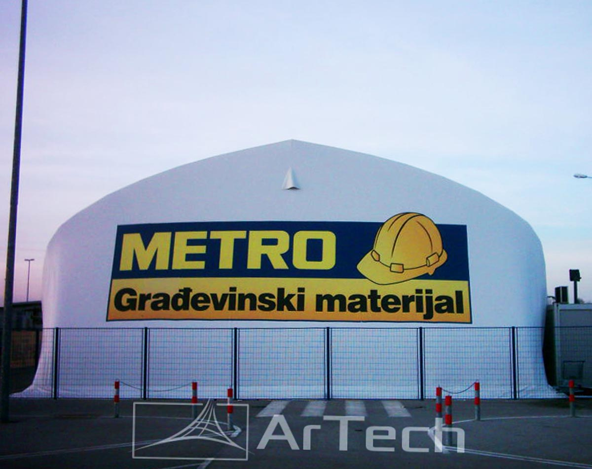 Magacinska hala METRO, Krnjača, Srbija, 2016