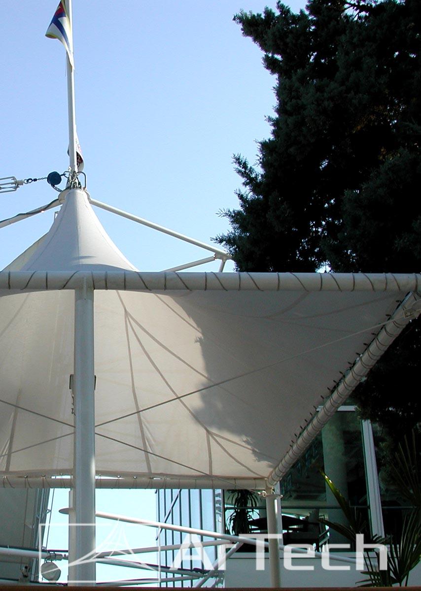 Nadstrešnica SPORT CAFFE, Herceg Novi, Crna Gora, 2007